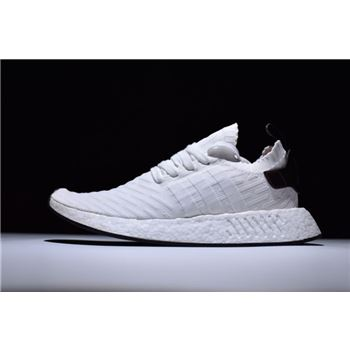 8017b4321 New Adidas NMD R2 Primeknit FTWR White Core Black-Red Men s Size BY3015