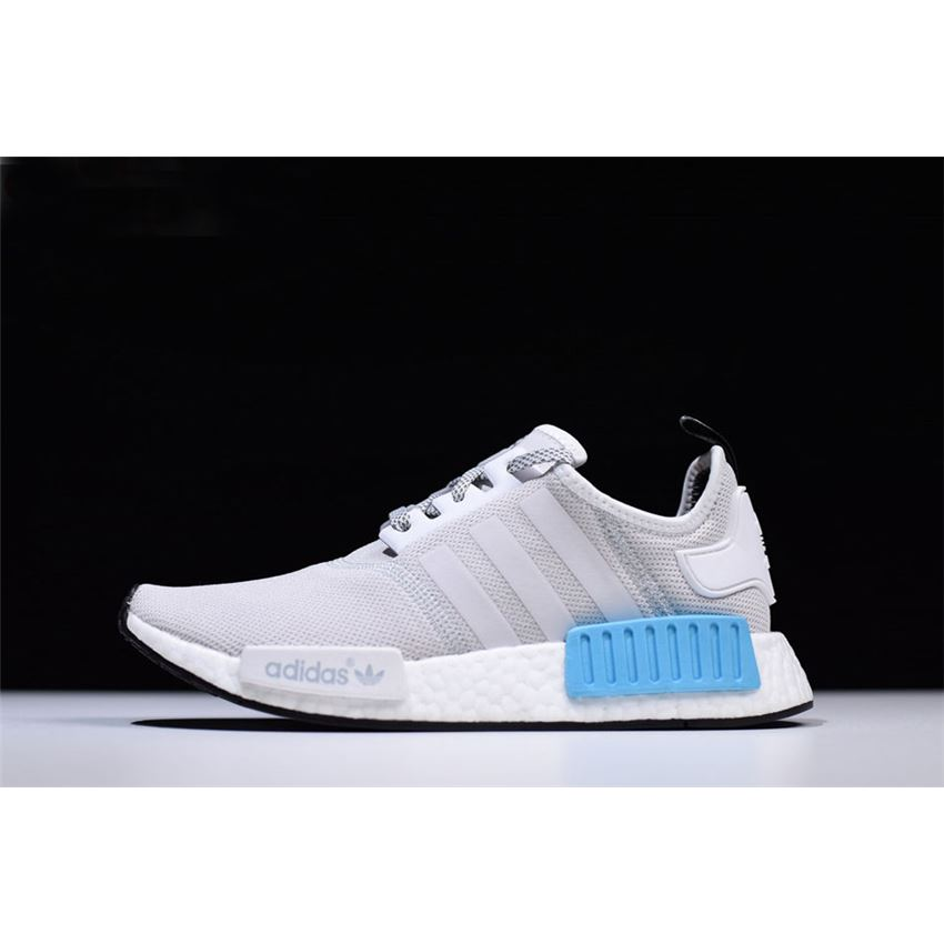 New Adidas NMD R1 Runner Light GreyWhite Blue Men's and