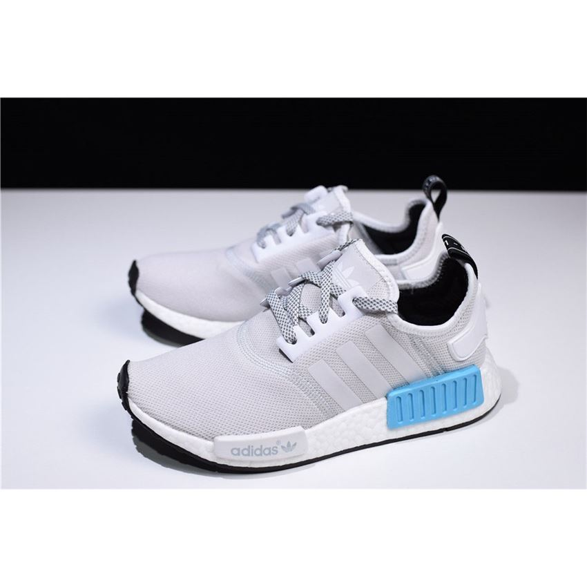 New Adidas Nmd R1 Runner Light Grey White Blue Men S And Women S