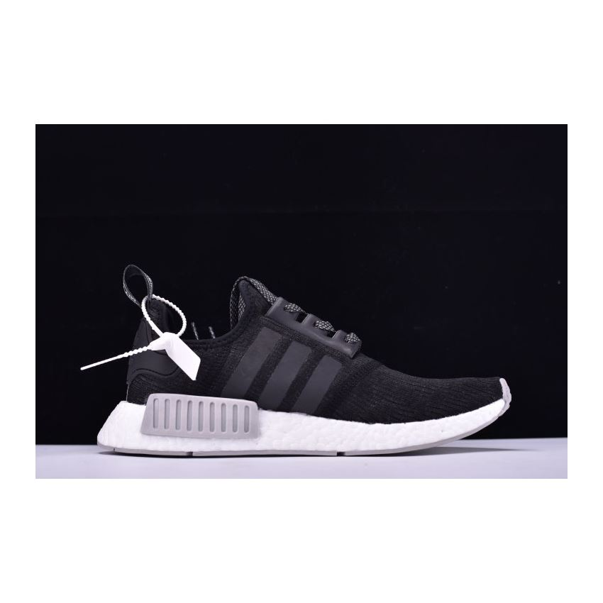fd2b285cd New Adidas NMD R1 Primeknit Black Reflective Black Grey-White CQ0759 ...