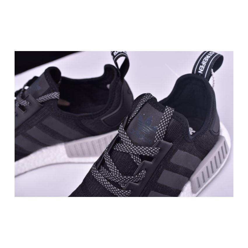 d232fe729e6aa New Adidas NMD R1 Primeknit Black Reflective Black Grey-White CQ0759 ...
