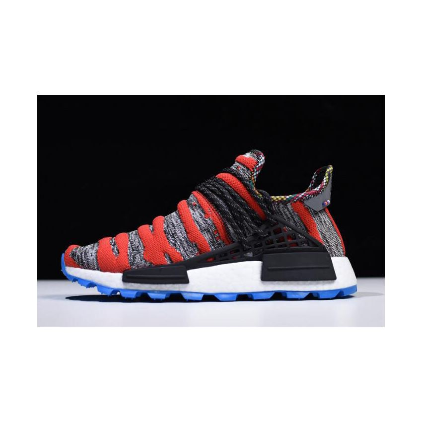 buy popular 779c4 bd2d1 2018 Pharrell x Adidas NMD Afro Hu Red Grey Black Shoes ...
