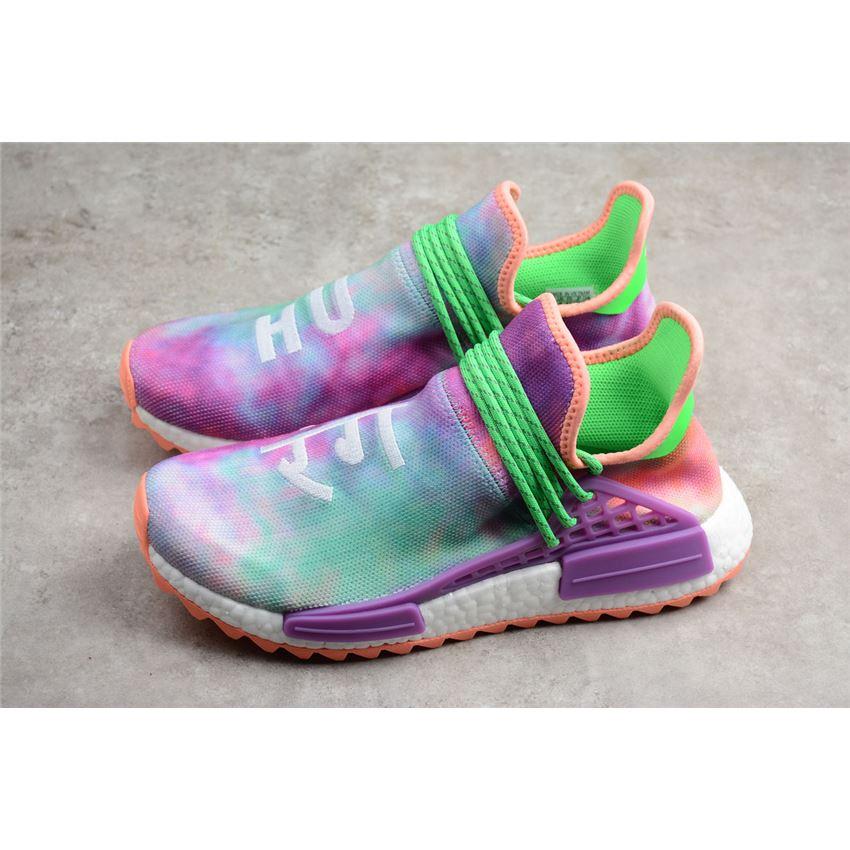sí mismo Mata guardarropa  2018 Pharrell x Adidas NMD Hu Race Trail Holi Chalk Coral/Flash Green-Lab  Purple AC7034, Ultra Boost, Adidas Ultraboost
