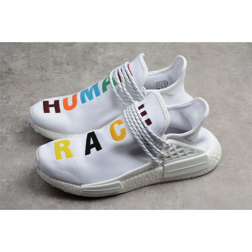 size 40 e533b 7ec63 Pharrell x Adidas NMD Human Race Birthday White Colorful ...