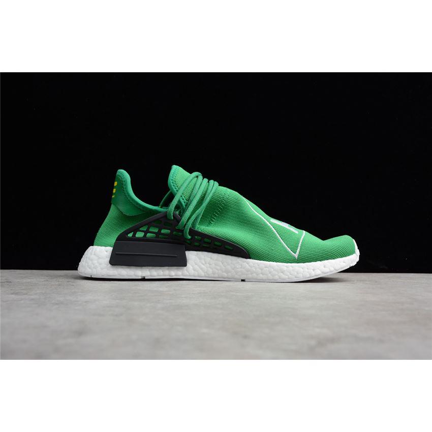 6c5bafcd6 Pharrell x Adidas NMD Human Race Green Footwear White-Black BB0620 ...