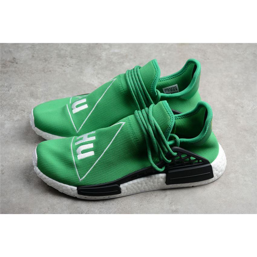 7f9e82d0e Pharrell x Adidas NMD Human Race Green Footwear White-Black BB0620 ...