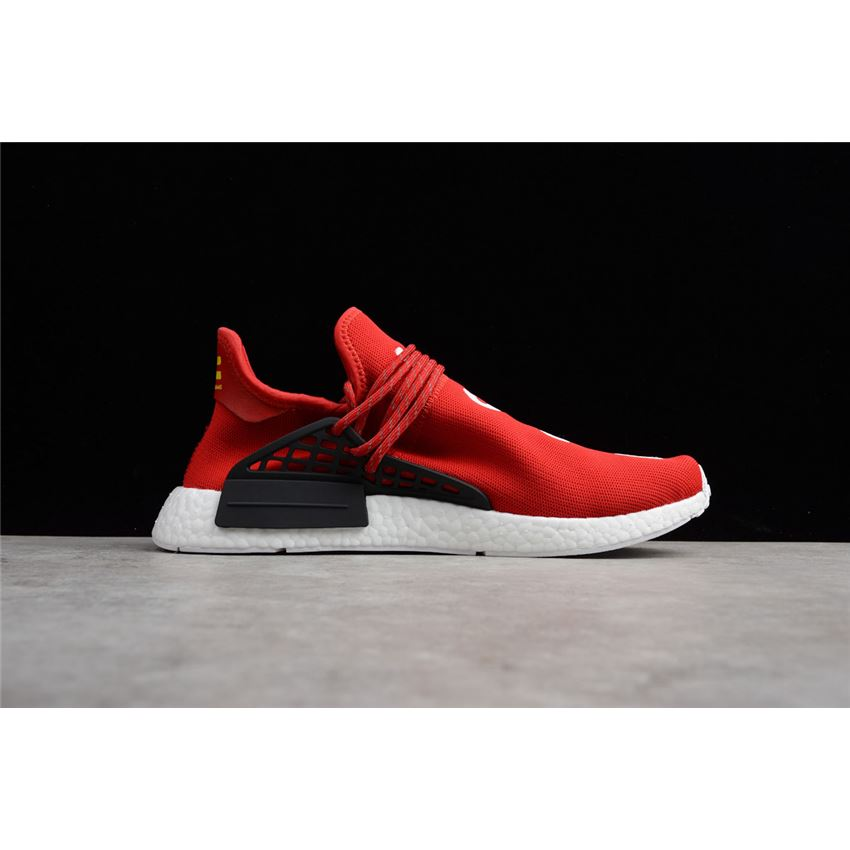 72356231890a1 Pharrell x Adidas NMD Human Race Red Footwear White-Black BB0616 ...