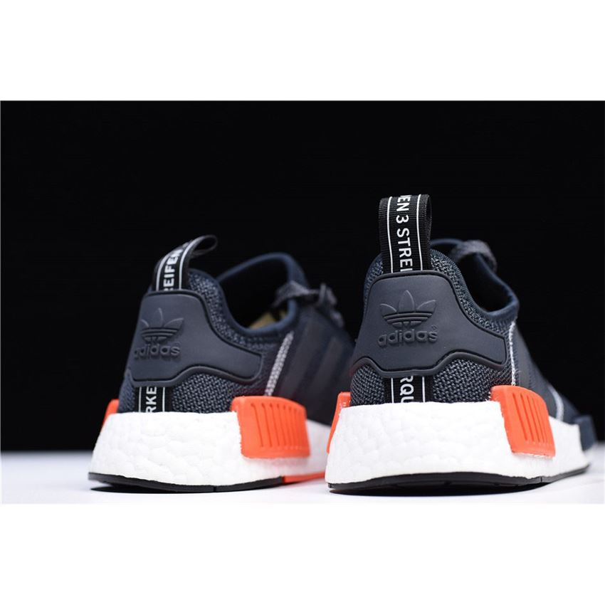 020946cdb Adidas NMD R1 Dark Grey Semi Solar Red Men s Running Shoes S31510 ...