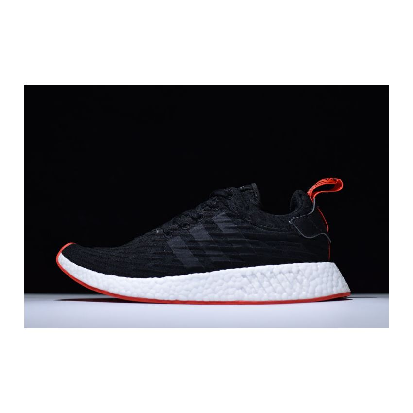 bd01aecc6 Adidas NMD R2 Primeknit Black White-Core Red BA7252