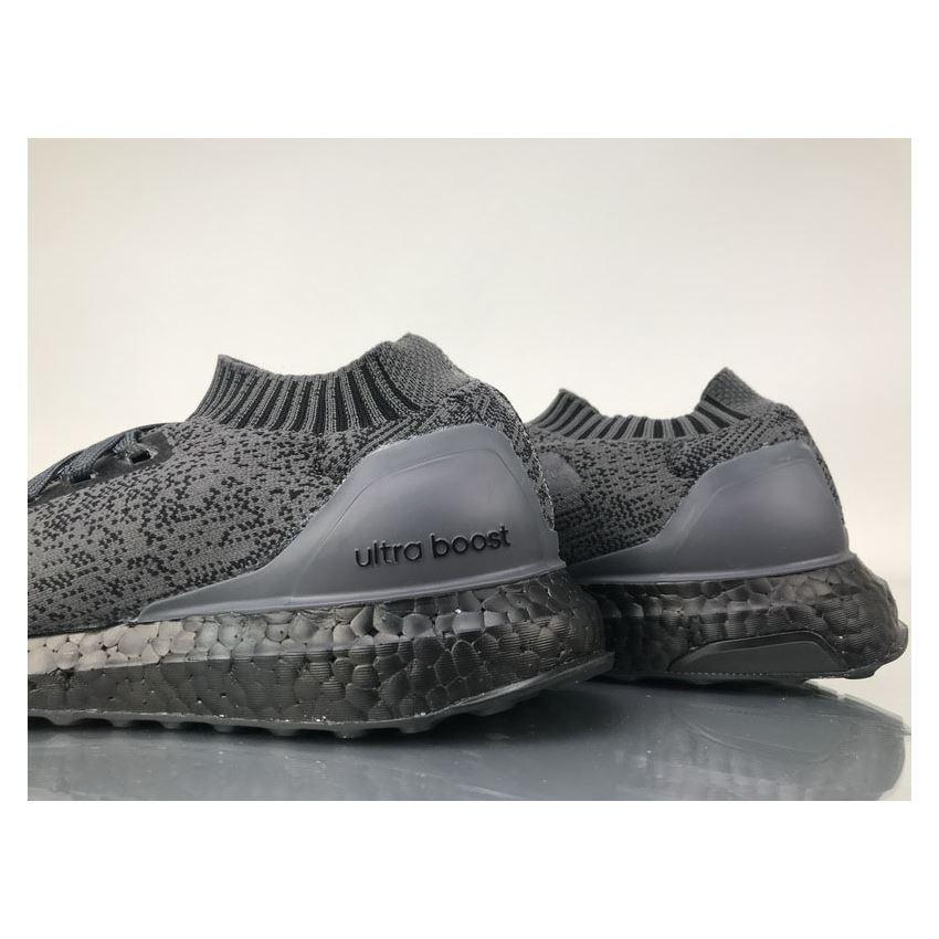 e8fa317598d3e Adidas Ultra Boost Uncaged Triple Black Real Boost BA7996 Shoes ...