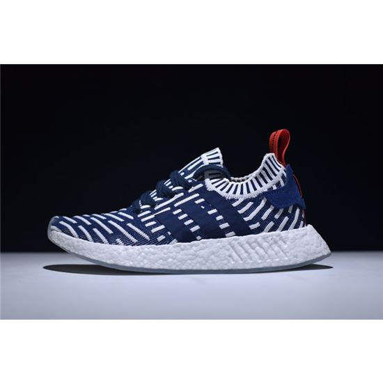 new arrivals e1171 31dd8 Men's Adidas NMD R2 Primeknit Navy/White-Red Shoes BB2909 ...