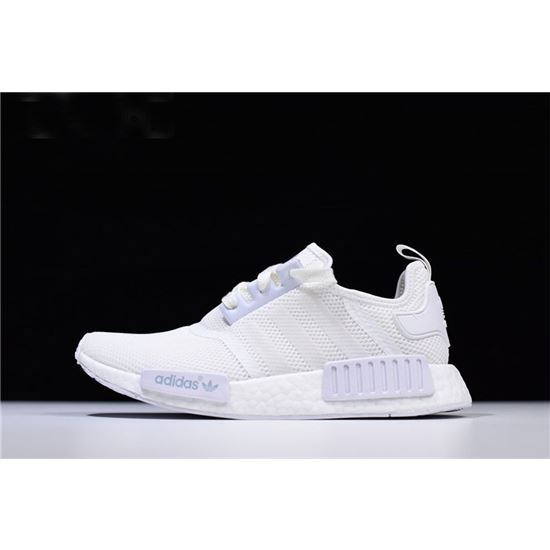 New Adidas NMD R1 Triple White Runner Shoes S79166, Adidas