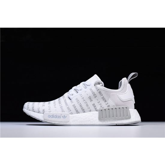 New Adidas NMD R1 Whiteout FTWR WhiteCH Solid Grey S76518