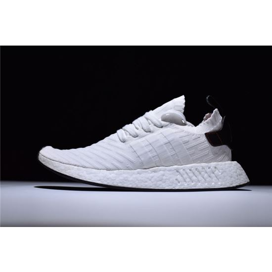 newest 0d09a 14625 New Adidas NMD R2 Primeknit FTWR White/Core Black-Red Men's ...
