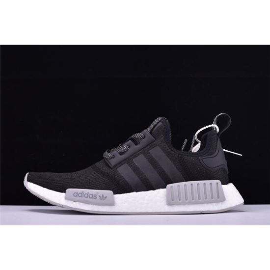 fa54e7b6b8968 New Adidas NMD R1 Primeknit Black Reflective Black Grey-White CQ0759 ...