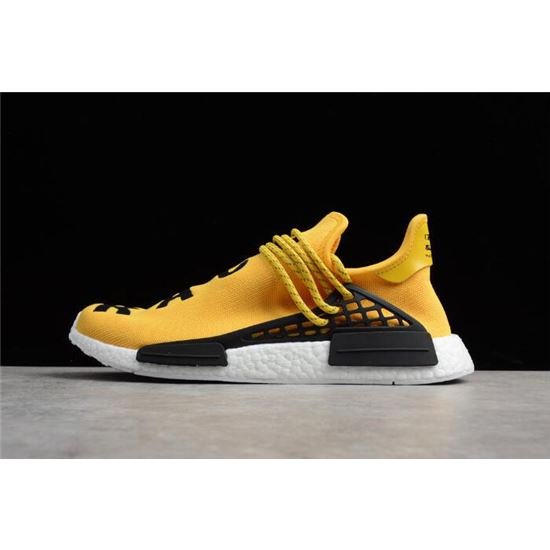 0df869359f4b3 Pharrell Williams x Adidas NMD Human Race EQT Yellow Yellow White BB0619