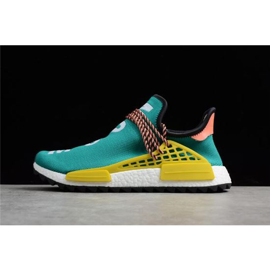 Brand New Pharrell x adidas NMD Boost Race Hu Trail Sun GlowCore Black EQT Yellow AC7188