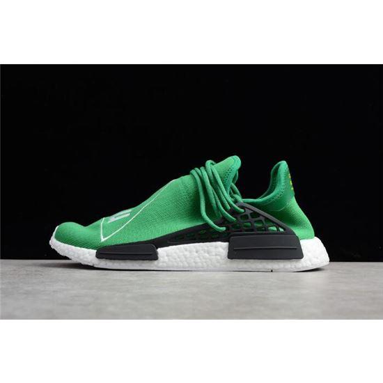 Pharrell x Adidas NMD Human Race GreenFootwear White Black