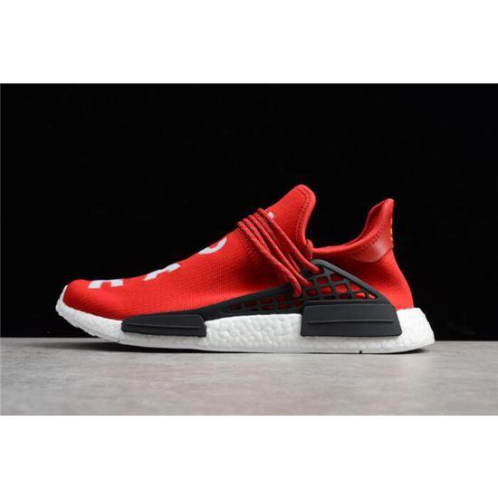 d55d00634 Pharrell x Adidas NMD Human Race Red Footwear White-Black BB0616 ...