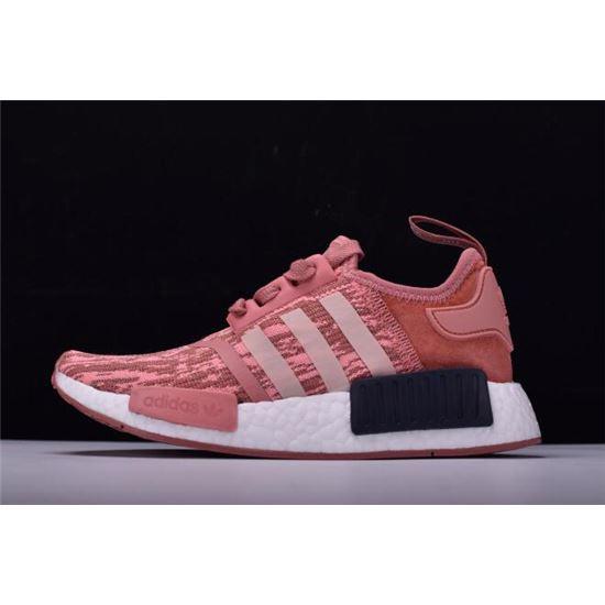 Women's Adidas NMD R1 Primeknit Pink Black Raw PinkTrace