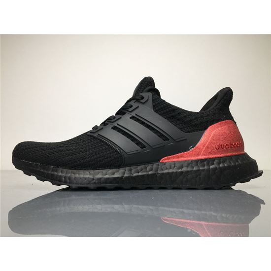 bbdc55a663196 Adidas Ultra Boost 4.0 Black Red Real Boost